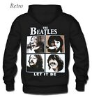 Felpa con cappuccio rock musica con stampa THE BEATLES Let it be (F27 067)