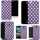 hard durable case cover for iphone & other mobile phones - purple spots motif