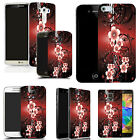 hard back case cover for many mobiles  - red flower vine