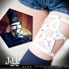 Punk visual rock anime H-game pentagram spike single leg garter belt 【J1U6040】