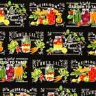 Garden Vegetable Harvest Mason Jar Canning Robert Kaufman Cotton Fabric t4/8