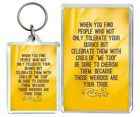 """When You Find..."" Funny Weirdos Tolerate Humour Keyring & Fridge Magnet Gifts"