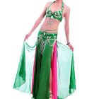 A004-2 Pro Belly Dancing Costume 3 Parts Bra Belt Skirt with C/D Cup Vernus