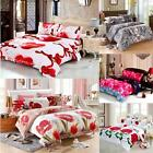 Double King Size Quilt Cover Bedding Set Bed Sheet 2 Pillowcases Bedroom X0P4