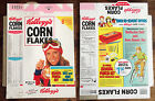 Vintage 1976 1970's Kellogg's Corn Flakes Cereal Box Flat Girl Back To School