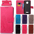 Clover Pattern Leather Flip Wallet Pouch Case Cover Stand For Motorola Moto G4