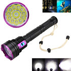 Underwater 100m 30000LM 12x XML T6 LED Diving Scuba Flashlight 18650/26650 Torch
