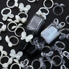50Pcs Nail Ring Card Design Open Ring Manicure Nail Art Polish Display US