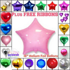 4-100 Plastic Balloon Weight HEART & STAR SHAPE For Helium Foil Balloons baloon