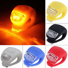 LED Bicycle Cycling Silicone Head Front Rear Wheel Safety Light Lamp Natural