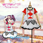 LoveLive!Sunshine! Saint Snow ria promote song Dress red White Cosplay Costume