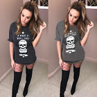 Kyпить UK Womens Short Sleeve Skull Print T-Shirt Ladies Casual Loose Tops Blouse Dress на еВаy.соm