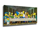 THE SIMPSONS LAST SUPPER CANVAS ART PRINT POSTER FRAMED PICTURE WALL ART