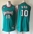 Mens Vancouver Grizzlies 10 Mike Bibby Hardwood Classic Sewn Stitched Jersey