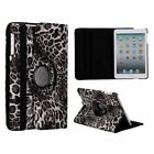 Leopard Print Animal Pattern Case for iPad Mini 1 2 3 360 Stand PU Leather Cover