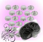 50 Hair Tie Kit  Self Cover Buttons 23mm Kit DIY optional Tools Buttons USA Made