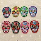 Exquisite Sewing Ironing On Skull Embroidered Patch Applique DIY Craft 8 Colour