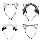 Fancy Mesh Pussycat Cat Ears Headband Hairband for Party Costume Cosplay