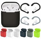Silicone Rubber Cover Case Skin Sleeve Bag Earhook For Apple AirPods Earphones