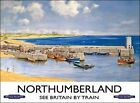 NORTHUMBERLAND BRITAIN BY TRAIN HOLIDAY HARBOUR METAL PLAQUE SIGN NOSTALGIC 416