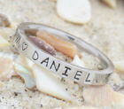 Engraved Birthdate Ring~Child's Name+ Birthdate+Time of Birth~Mother's Day Gift