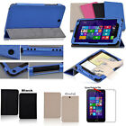 "PU Leather Case Folio Cover For 8"" HP Stream 8 Tablet  Win 8.1 + Screen Film"