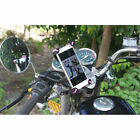 Cell Mobile Phone Motorcycle Holder Stand Motorbike Rearview Mirror Mount Cradel