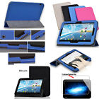 "PU Leather Folio Case Cover For 10.1"" Toshiba AT10PE-A AT10-A Tablet + 2Pcs Film"