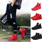 New Korean Men Casual Flats Shoes Running Sports Breathable High Top Sneakers