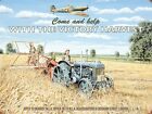 WOMAN'S LAND ARMY FARM TRACTOR RAF SPITFIRE METAL PLAQUE TIN SIGN NOSTALGIC 929