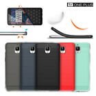 For One Plus 3 3T Phone Case Shockproof Hybrid Brushed Carbon TPU Rubber Cover