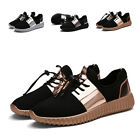 Men Casual Shoes Black Gold Silver Breathable Lace-up Running Fashion Sneaker
