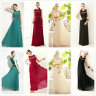 Sleeveless Hollow Summer Chiffon Party Cocktail Full Length Long Maxi Dress US