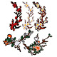 Applique Embroidered Patches Plum Blossom Branch Patch for Clothing Accessories