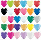 20-100 Latex Love Heart Shape Balloons Red Colour Birthday Wedding Mothers Day