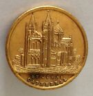 St Johns Cathedral Golden Pin Badge Rare Religious Vintage Some Wear (J8)