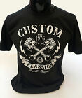 Custom Classics T-Shirt mens S-2XL Biker tee skull motorcycle rock bike outlaw