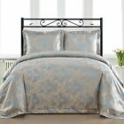 Staniey Bedding Silk Feel Cotton Blend 450 TC 3-piece Duvet Cover Set in Blue image