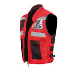 VT MOTORCYCLE RED REFLECTIVE VISIBILITY BASE VEST