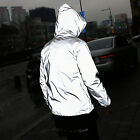 ByTheR Silver Solid Night Bicycle Active Light Reflective Windbreaker Jacket