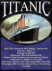 TITANIC SPECIFICATIONS HARLAND AND WOLFF VINTAGE NOSTALGIC SIGN METAL PLAQUE 331