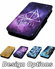Deathly Hallows Printed Faux Leather Flip Phone Cover Case Harry Potter Style #1