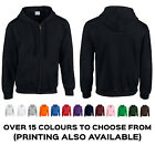 Plain Gildan Zipped Heavy Blend Hoodie Hoody Hooded Sweatshirt Top Sweat Jumper