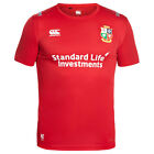 Canterbury Kid's British & Irish Lions Tshirt Rugby Vapodri Poly Tee Tango Red