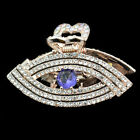 new jewelry hair clamp extension crystal eye shape clip rhinestone barrette gift