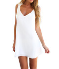 Women Summer Lace Back Bodycon Evening Party Cocktail Short Mini Dress White