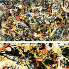 """68W""""x40H"""" CONVERGENCE by JACKSON POLLOCK, DRIP PAINTING - CHOICES of CANVAS"""