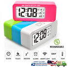New Rechargeable Color Home Office Desk Digital ALARM CLOCK Calendar Thermometer
