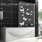 Butterflies Etched Glass Sticker Easily Fitted Window Shower Screen Patio Doors