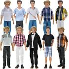 Doll Clothes Casual Wear Shirt Pants Jeans Trousers Suits For Barbie Ken Dolls A